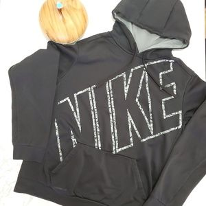 NIKE THERMA-FIT Black and Gray Hoodie